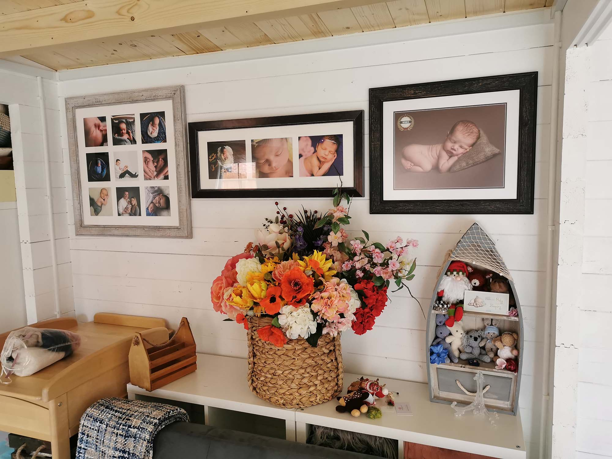 studio inside with wall art images