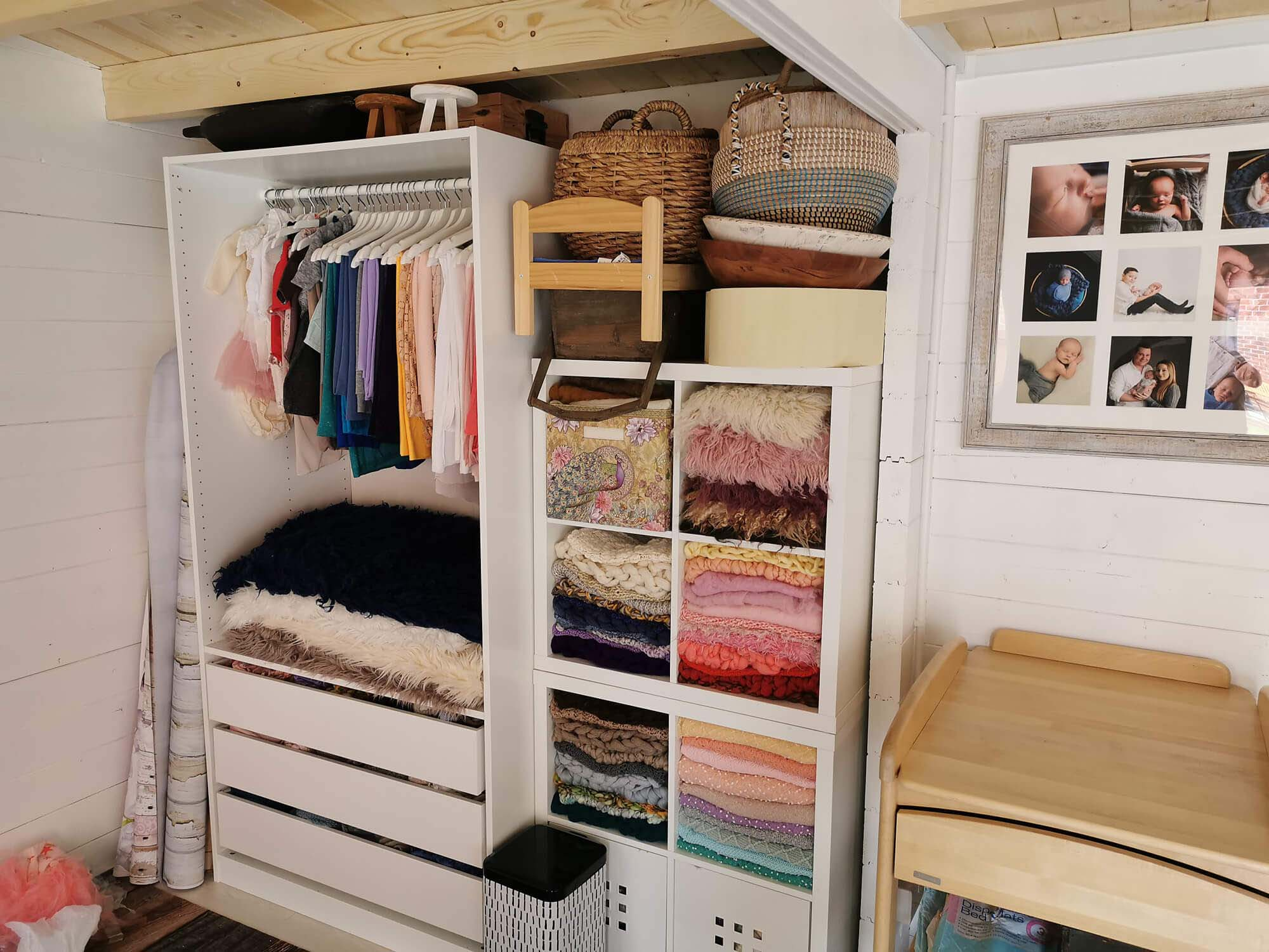 studio iside with wardrobe