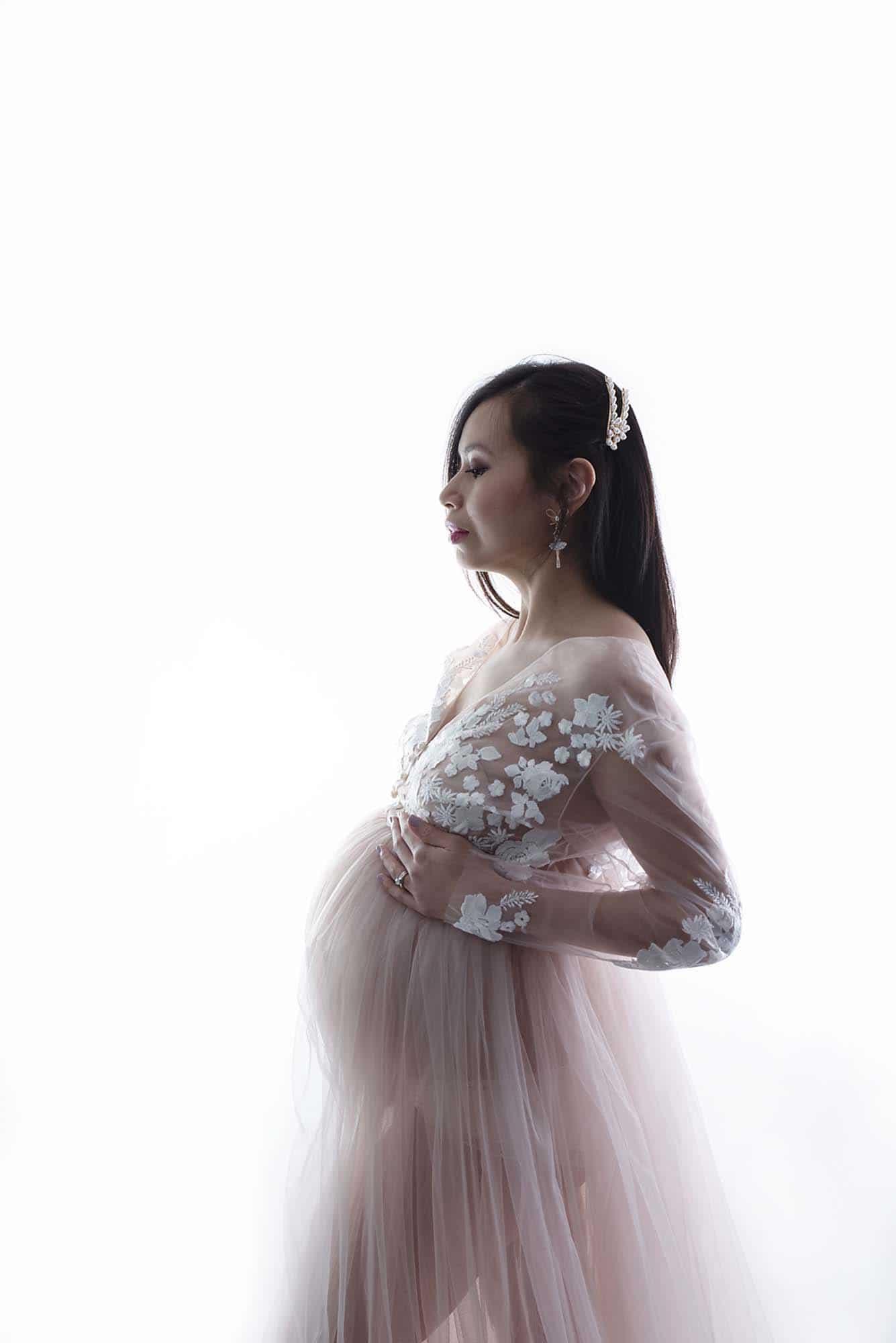 maternity photoshoot Manchester studio Dora Horvath
