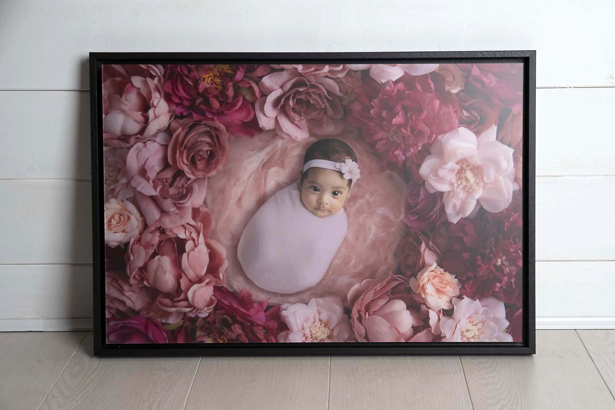 tray framed acrylic wall art