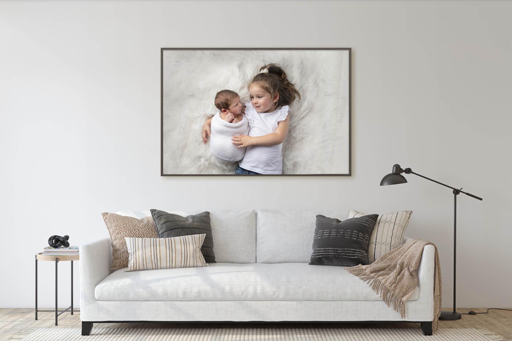 tray framed acrylic wall art on the wall