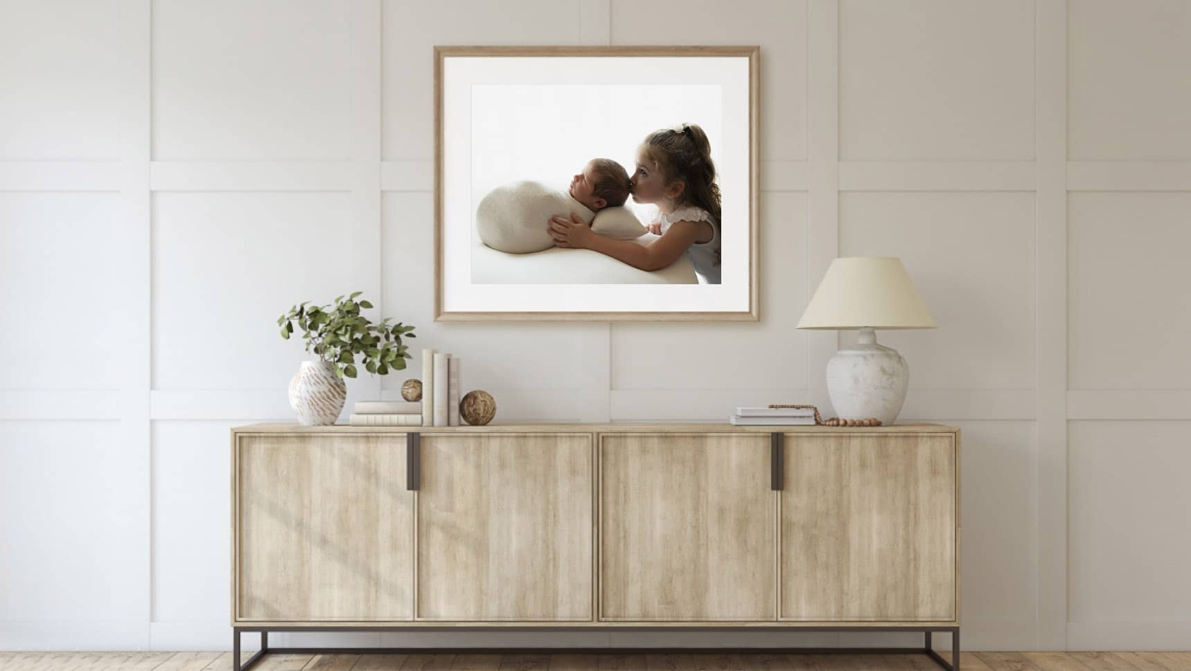 framed print on the wall